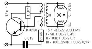 Схема подключения лампы от 12 вольт