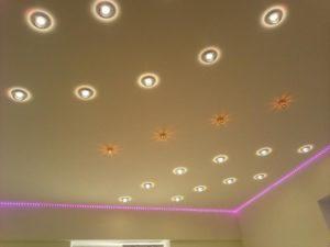 Точечные светильники по углам