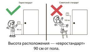 Дети не дотягиваются до выключателя