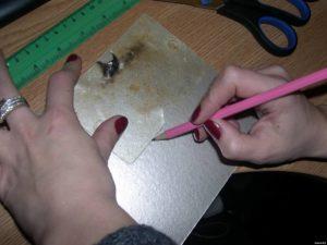 Разметка слюдяной пластины для микроволновки
