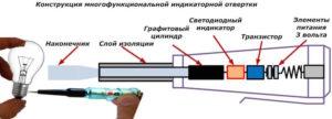 Многофункциональная отвертка индикатор