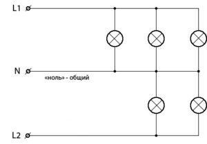 Схема соединения пятирожковой люстры