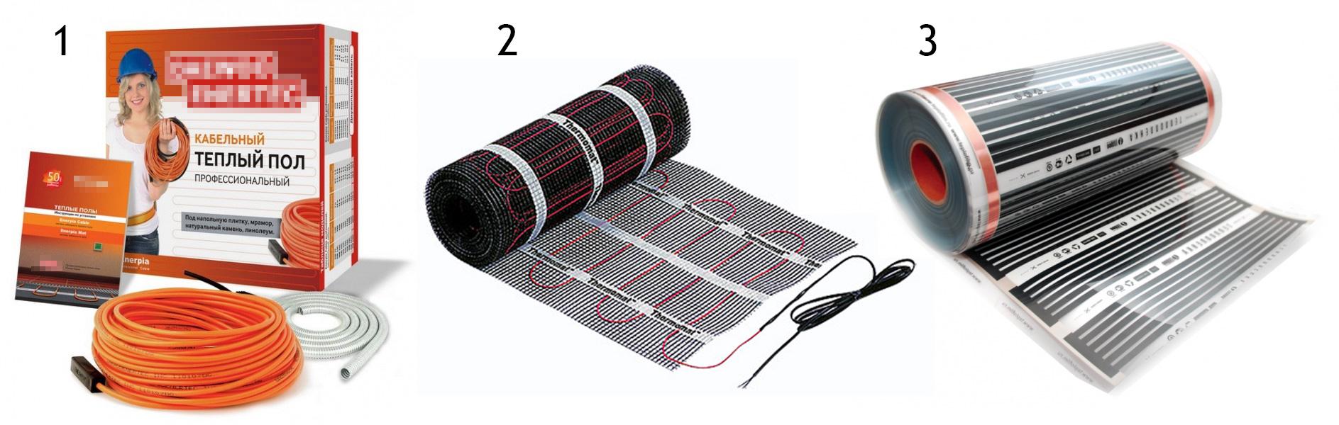 Теплые электрические полы под плитку своими руками