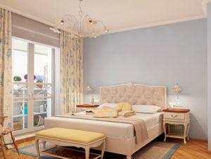 Спальня с прикроватными тумбочками