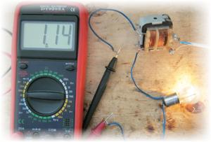 Измерение переменного тока мультиметром