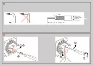 Подготовка провода к подключению к тв розетке