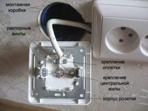 Схема подключения одного телевизора к тв розетке