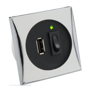 Розетка юсб с выключателем закрытого типа