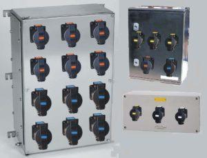Распределительный шкаф с взрывозащищенными розетками