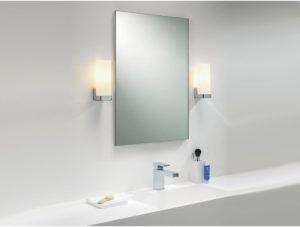 Расположение светильников по бокам от зеркала
