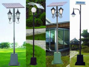Солнечные светильники на столбах