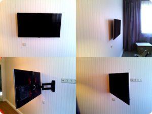 Розетки устанавливаются за телевизором