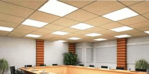 Размещение светодиодных потолочных светильников в кабинете