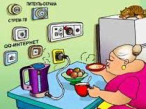 Удобное расположение розеток на кухне