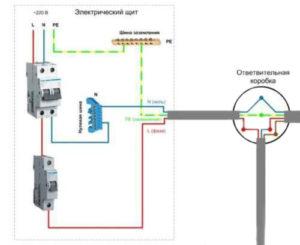 Схема подключения выключателя от автомата