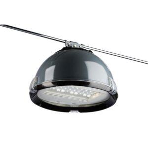 Подвешанный на троссе светодиодный светильник