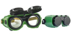 Защитные очки при сварке проводов
