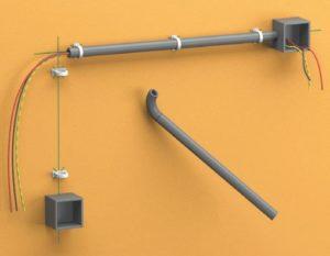 Прокладка проводов в деревянном доме в трубах
