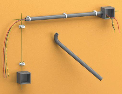 Технология монтажа электропроводки в трубах