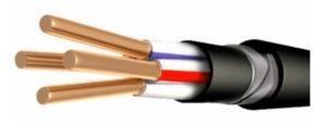 Бронированный кабель для прокладке в земле