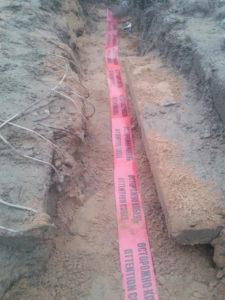 Лента для обозначения кабеля в земле