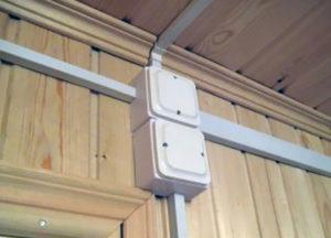 Как проложить кабель канал к распределительной коробке