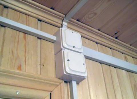 Проводка в доме в кабель канале