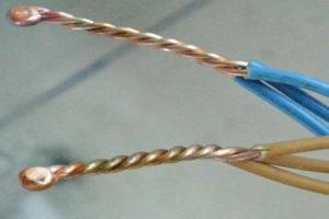 Соединение медных проводов методом сварки