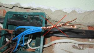 Почему нельзя соединять провода методом скрутки