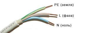 Расцветка проводов в кабеле