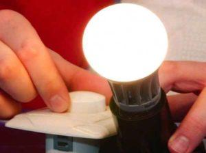 Регулировка яркости светодиодной лампы с поиощью диммера
