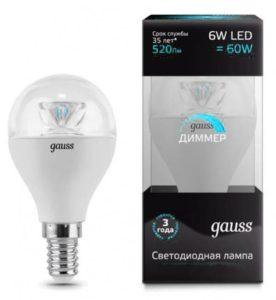 Внешний вид диммируемой светодиодной лампы Gauss