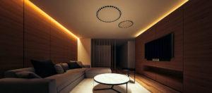 Помещение, где хорошо смотрится теплый свет светодиодных ламп