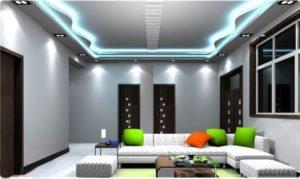 Холодный свет лампа на светодиодах в интерьере