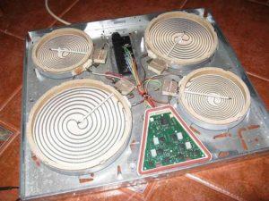 Устройство варочной панели с простым нагревателем
