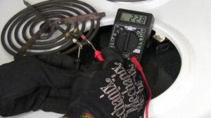 Проверка электронагревателя с помощью мультиметра