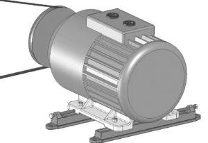 Ременная передача электродвигателя вентиляционной установки