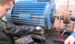 Установка асинхронного двигателя на станину