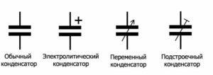 Графическое изображение конденсатора