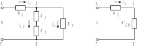 Схема смешанного соединения сопротивлений